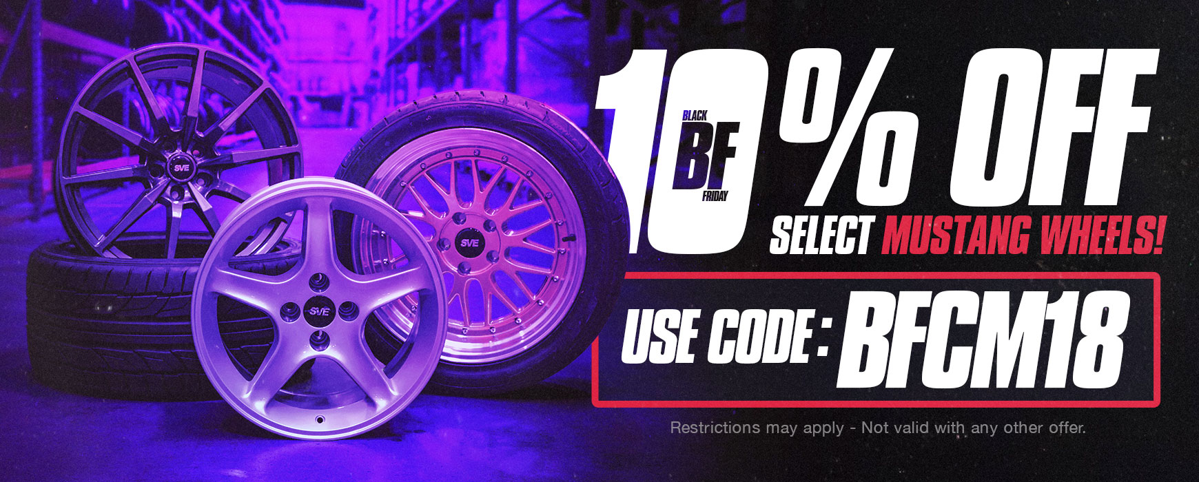 10% OFF Select Mustang Wheels Discount Code