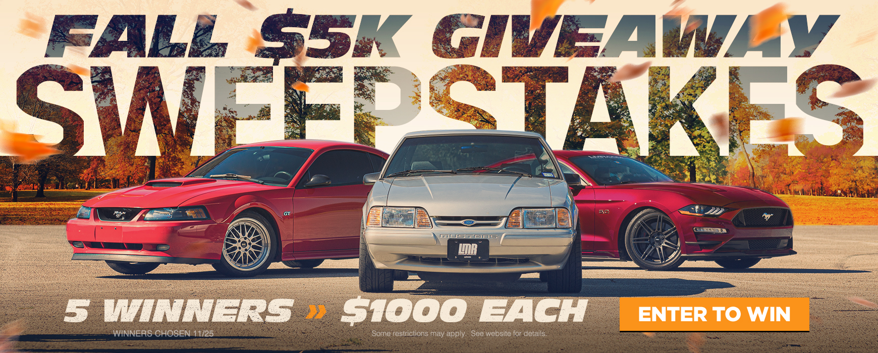 Ford Mustang Fall $5000 Sweepstakes