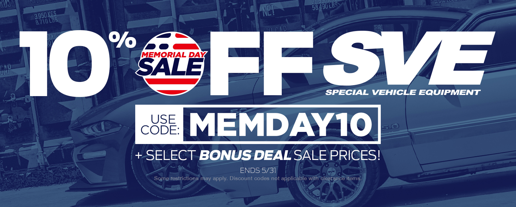 SVE Memorial Day Sale