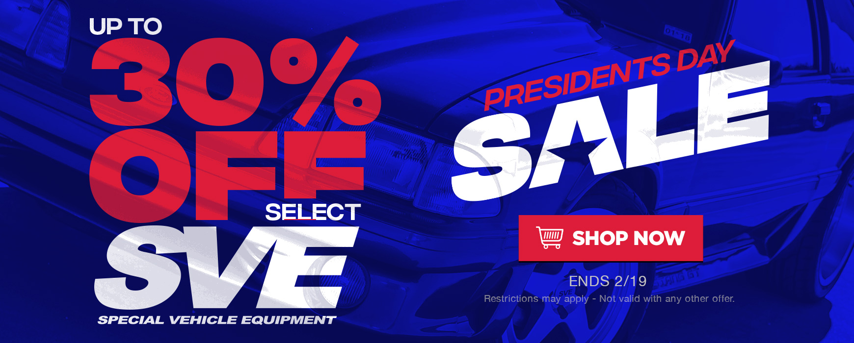 SVE Mustang Parts On Sale