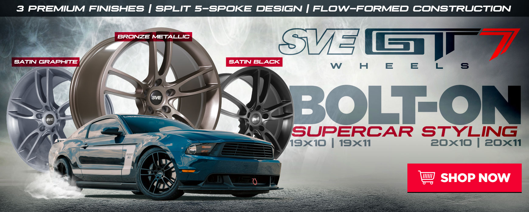 SVE GT7 Mustang Wheels