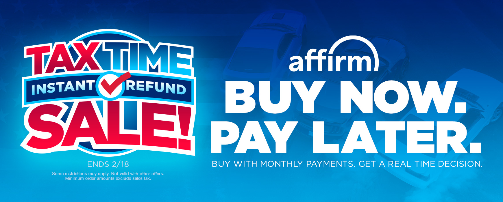 Buy Now. Pay Later w/ Affirm