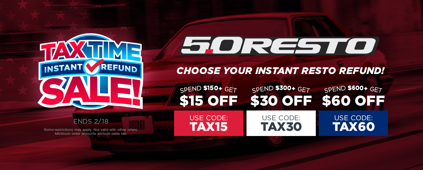Tax Time Instant Refund Deals on 5.0 Resto