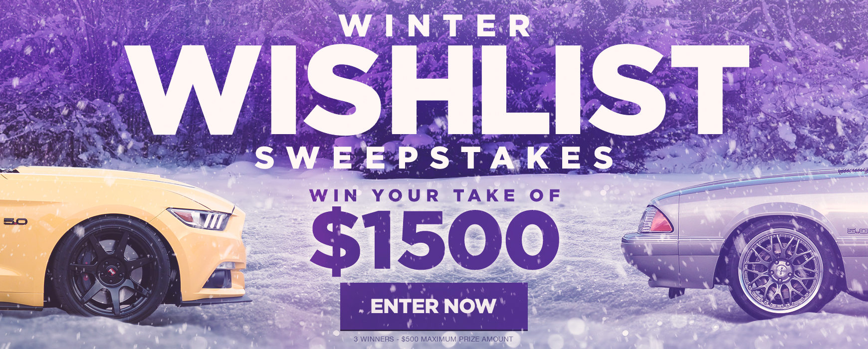 $1500 Winter Wishlist Sweepstakes